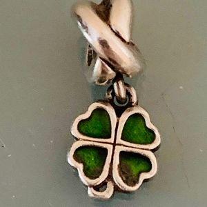 Authentic Pandora Four Leaf Clover Charm